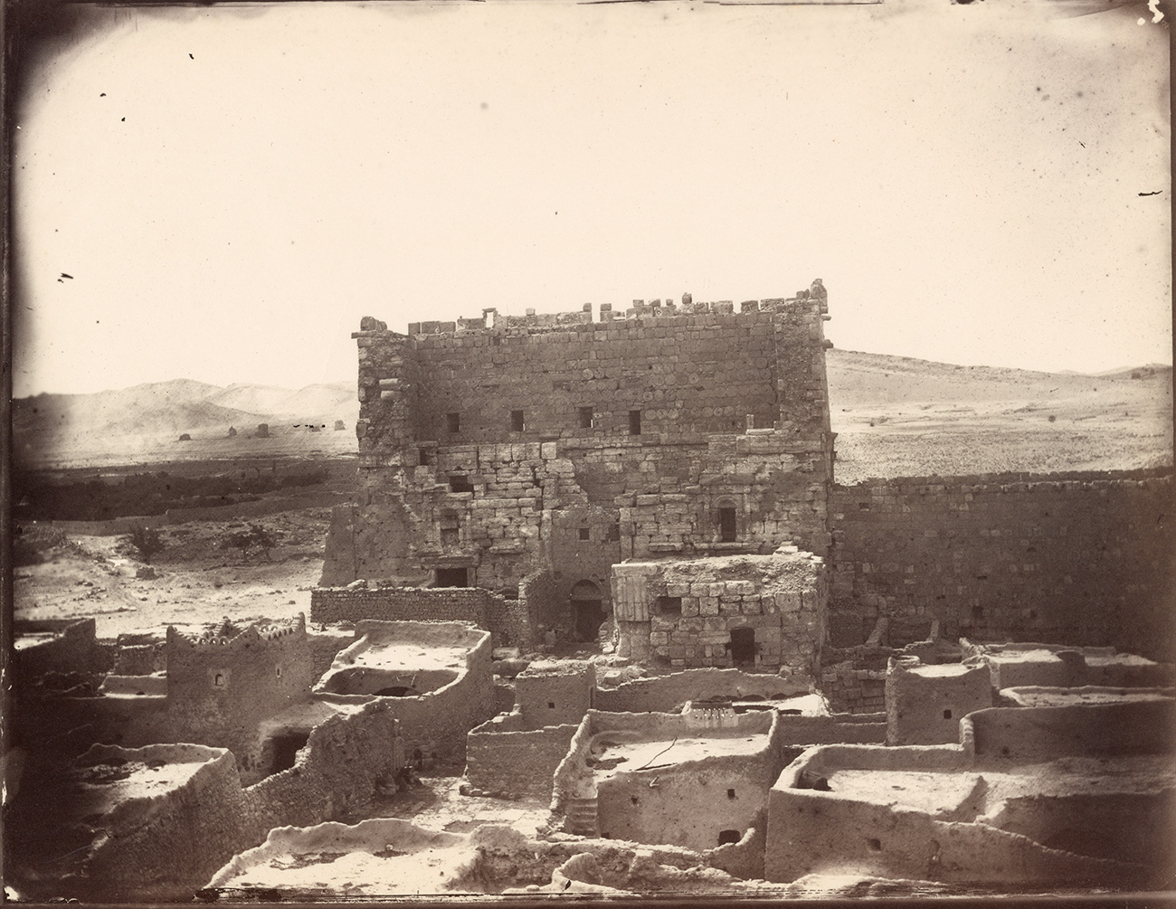 Temple of Bel, 1864, Louis Vignes. Albumen print. 8.8 x 11.4 in. The Getty Research Institute, 2015.R.15