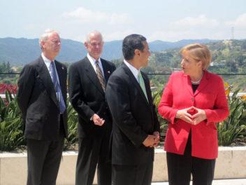 Angela Merkel Visits the Getty