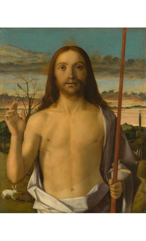 <em/>Christ Blessing, about 1500, Giovanni Bellini. Tempera and oil on wood panel.