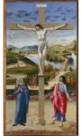 <em/>Crucifixion with the Virgin and Saint John the Evangelist, ca. 1458–1459. Tempera and oil on wood panel.