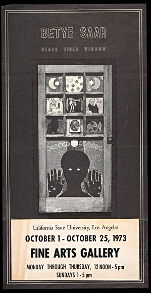 "Announcement, Betye Saar ""Black Girl's Window"""