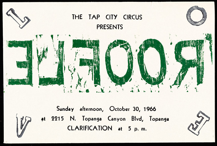 "Announcement, ""Roofle"" at Tap City Circus"