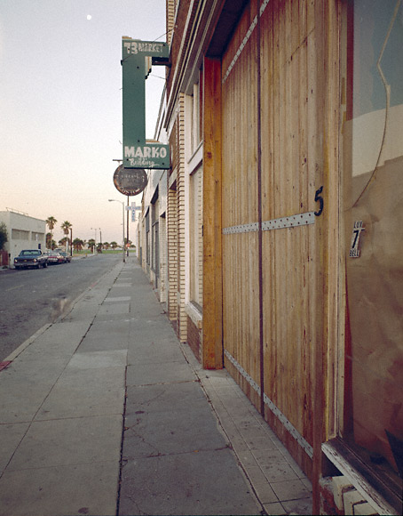 Exterior of Larry Bell's studio in Venice, CA