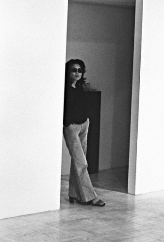 Riko Mizuno at the Mizuno Gallery, 1971.