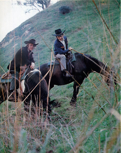 Ed Ruscha and Joe Goode on horseback