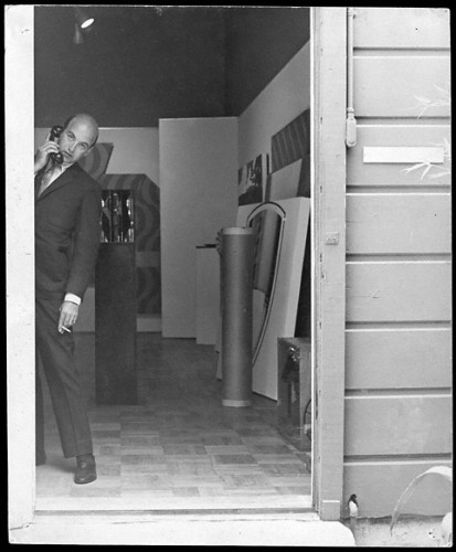 Rolf Nelson at the Rolf Nelson Gallery, ca. 1964-66.