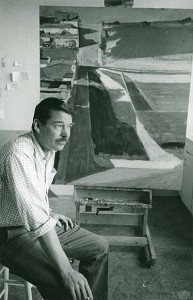Richard Diebenkorn with 'Cityscape'