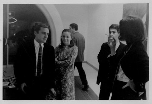 Dennis Hopper, Brooke Hayward, Martial Raysse, and Virginia Dwan