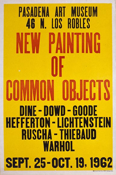 Poster for the exhibition New Painting of Common Objects