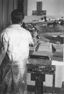 Richard Diebenkorn in his studio