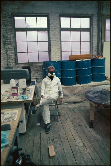 De Wain Valentine in his Venice studio