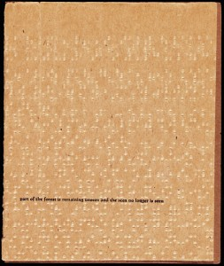 Brochure for a performance at Instant Theatre