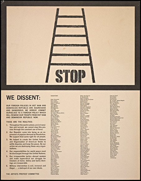 Artists' protest poster