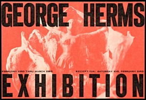 Announcement, George Herms at Aura Gallery