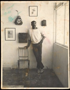 Ed Bereal in his studio