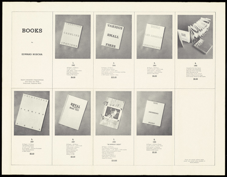 Heavy Industry Publications, books by Ed Ruscha