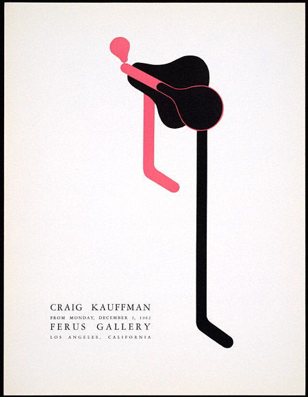 Poster for Craig Kauffman exhibition