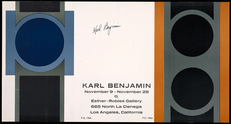 Poster for Karl Benjamin exhibition