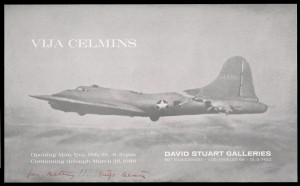 Poster for Vija Celmins exhibition