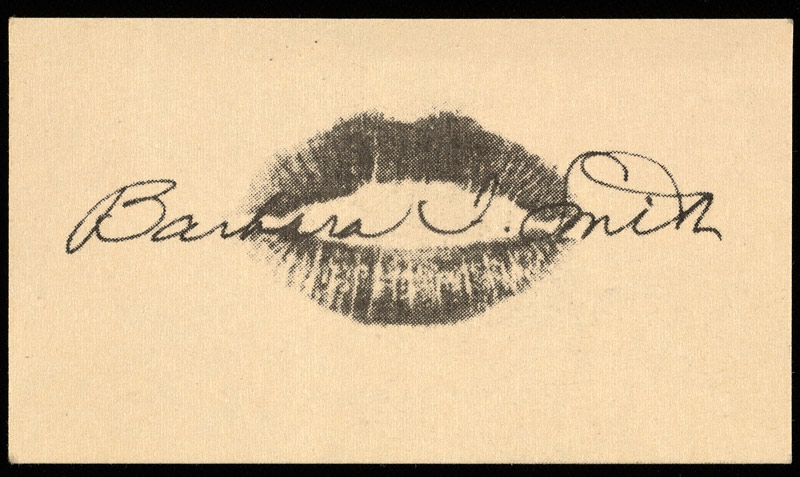 Barbara T. Smith's artist business card