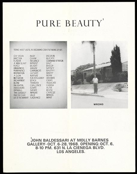 Poster for John Baldessari exhibition