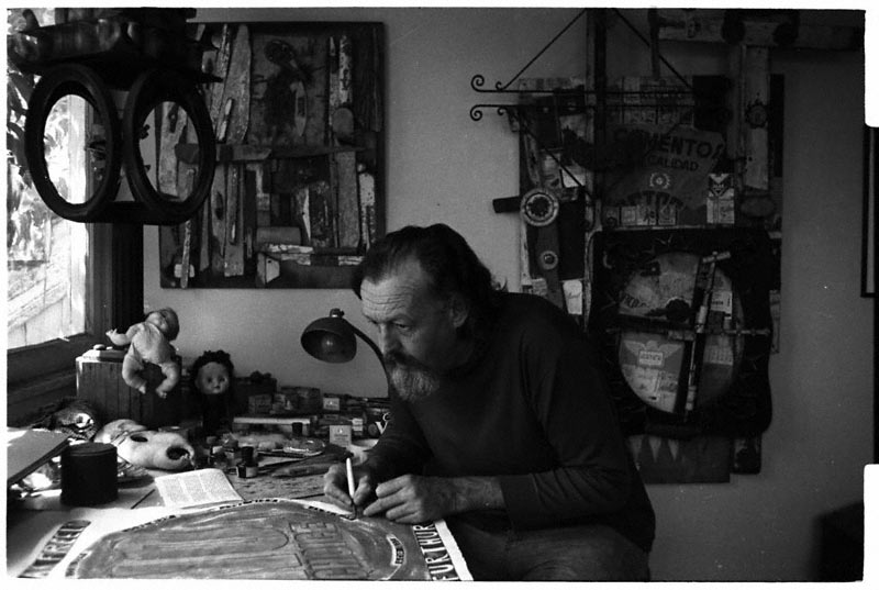 Gordon Wagner in his studio