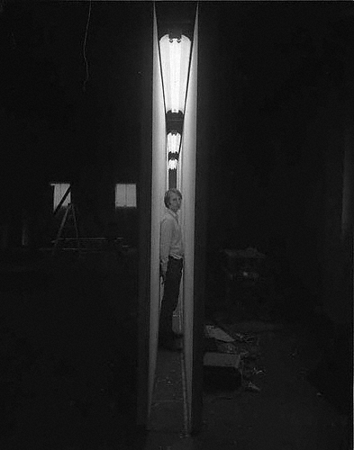 Bruce Nauman in his studio