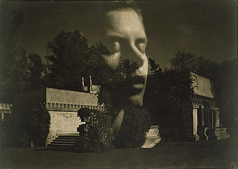 Gertrude Teske, Composite with Hollyhock House, Hollywood, Edmund Teske