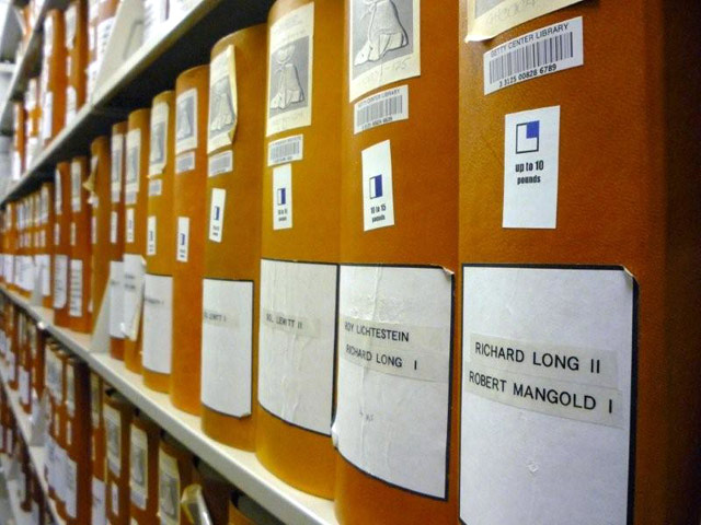 Panza Archive at the Getty Research Institute