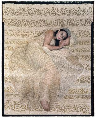 Les Femmes du Maroc: Revisited #1, Lalla Essaydi, 2009, chromogenic print. Image courtesy the artist