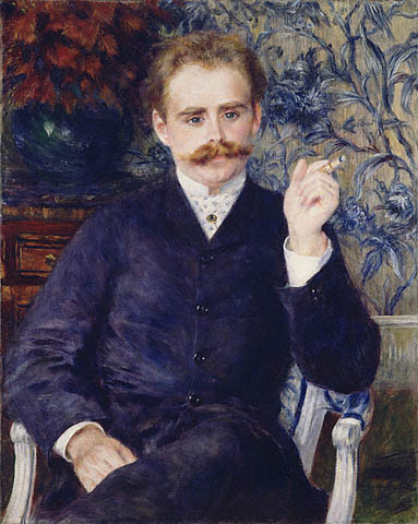 Albert Cahen d'Anvers, Pierre Auguste Renoir, 1881. The J. Paul Getty Museum. The portrait was sold by the Cahen d'Anvers family to a Swiss gallery in 1971.