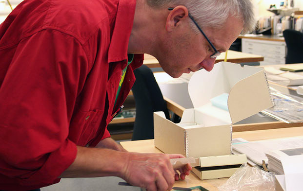 Albrecht Gumlich, objects conservator at the Getty Research Institute