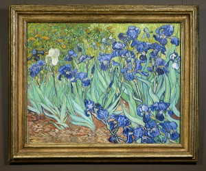 The Irises in its gilded frame / Vincent van Gogh