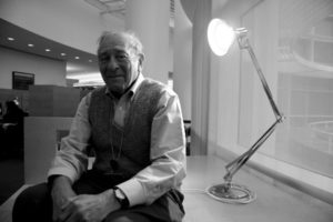 Shedding light: George Hein in the Research Library at the Getty Research Institute.
