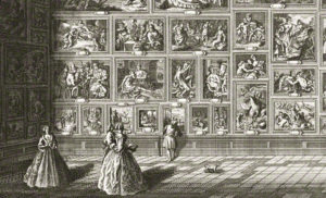 View of a Room at Pommersfelden Palace. Johann Georg Pintz, printmaker; Salomon Kleiner, draftsman; in Representation au naturel des chateaux... (Augsburg, 1728), pl. 18. The Getty Research Institute,84-B21917