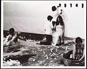 Ablutions performance at Guy Dill's studio