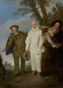 The Italian Comedians in a Park / Antoine Watteau
