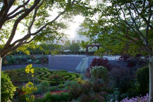 Dusk in the Central Garden at the Getty Center