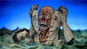 Filipo Argenti receiving his eternal torments in the River Styx (courtesy ©2007, Dante Film, LLC)