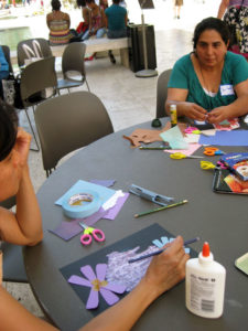Participants at the Getty Museum's Art and Language Arts alumni event - August 11, 2012