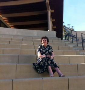 Novelist Lindsey Davis at the Getty Villa