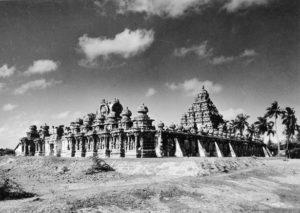 Archival photo of Kailasanatha temple in Kanchipuram / Kanchi, Chingleput, Tamilnadu, India