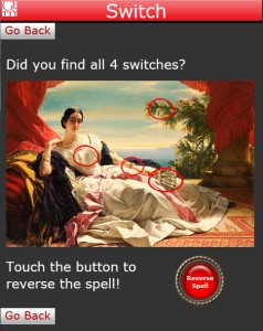 Switch is a new in-gallery mobile game at the Getty Center.