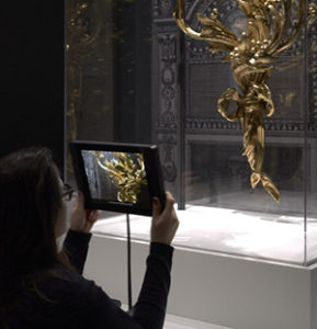Using augmented reality on an iPad in The Life of Art at the Getty Museum
