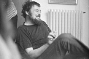 Harald Szeemann during the installation of documenta 5 in Kassel, Germany, 1972 / Balthasar Burkhard