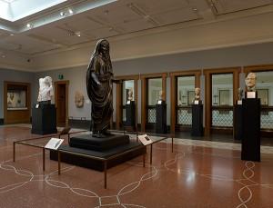 Statue of Tiberius in the Men's gallery at the Getty Villa / Roman