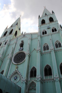 Exterior of San Sebastian Church. Completed in 1891, this neo-Gothic all-steel church, the only one of its kind in Asia, is made of pre-fabricated steel elements fabricated in Belgium. Photo: Jaime S. Martinez