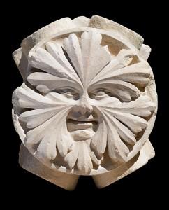 Keystone in the Shape of a Foliate Face / Greek