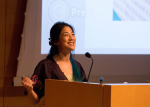 Keynote speaker Traci Kato-Kiriyama sets the tone for what becomes an eye-opening experience at the Getty.
