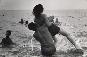 "Coney Island, New York. c. 1952. Gelatin silver print, 8 11/16 x 12 15/16"" (22 x 33 cm). Purchase and gift of Barbara Schwartz in memory of Eugene M. Schwartz. Estate of Garry Winogrand, courtesy of Fraenkel Gallery"